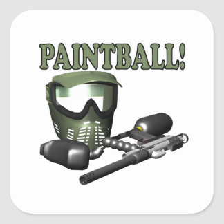 Paintball 2 square sticker