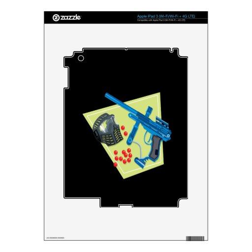 Paintball 3 pegatinas skins para iPad 3