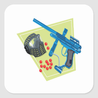Paintball 3 square sticker