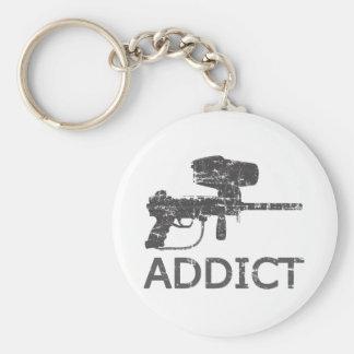 Paintball Addict Basic Round Button Keychain