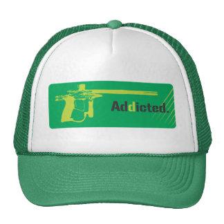 Paintball Addicted Green Logo  Hat