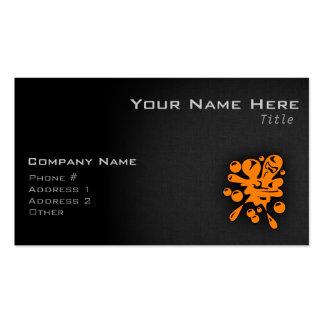 Paintball anaranjado tarjetas de visita