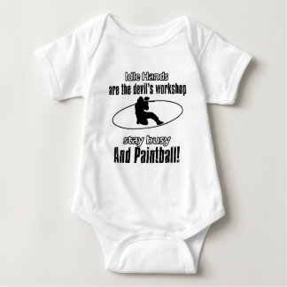 paintball awesome gift items baby bodysuit