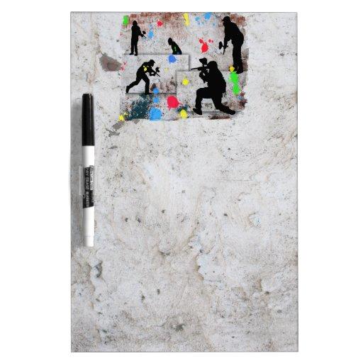 Paintball Battle Dry-Erase Whiteboards