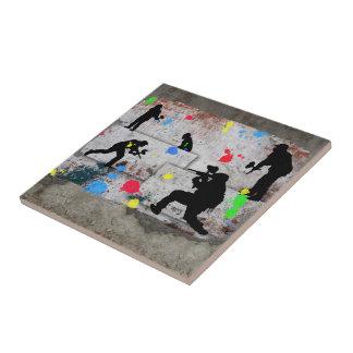 Paintball Battle Edges Ceramic Tiles