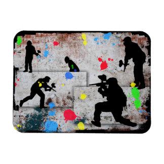 Paintball Battle Edges Magnet
