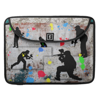 Paintball Battle Edges Sleeves For MacBook Pro