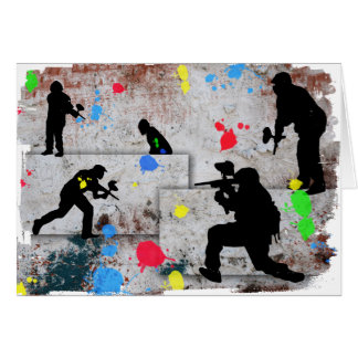 Paintball Battle Greeting Card