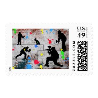 Paintball Battle Invited Postage