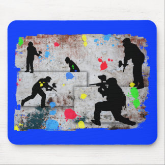 Paintball Battle Mouse Pad