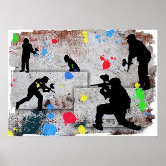 Paintball Battle Poster