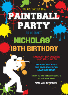 Paintball invitations zazzle paintball birthday invitation paintball birthday stopboris Gallery
