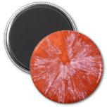 Paintball blanco en rojo iman para frigorífico