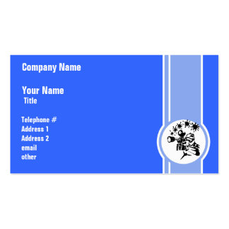 Paintball; Blue Business Card Templates