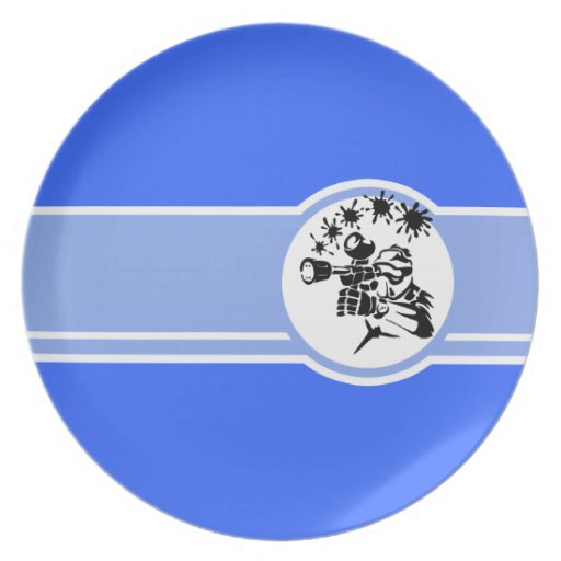 Paintball; Blue Party Plates