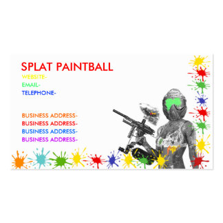 Paintball Double-Sided Standard Business Cards (Pack Of 100)