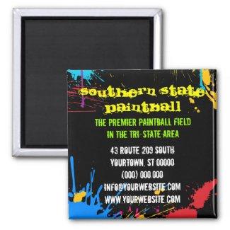 Paintball Business Magnet zazzle_magnet