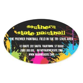 Paintball Business Promotional Sticker zazzle_sticker