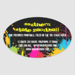 Paintball Business Promotional Sticker