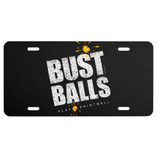Paintball Bust Balls License Plate