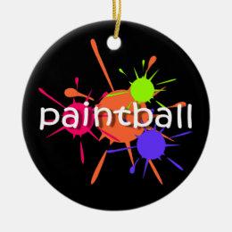 Paintball Ceramic Ornament