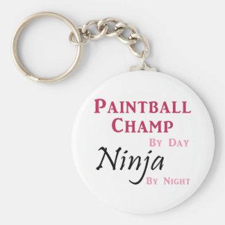 Paintball Champ / Ninja Basic Round Button Keychain