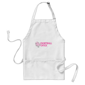 Paintball Chick Adult Apron