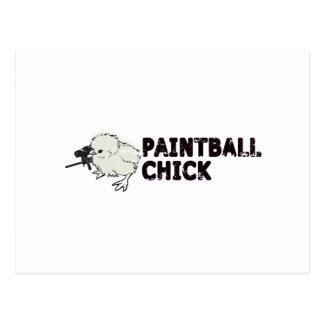 Paintball Chick Postcard