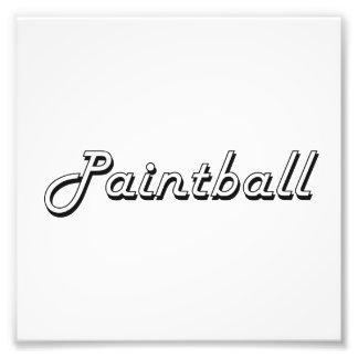 Paintball Classic Retro Design Photo Print