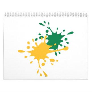 Paintball color splash calendar