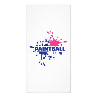 Paintball color splash custom photo card
