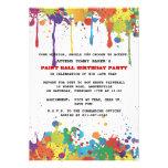 Paintball Colors Invitation