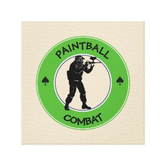 Paintball Combat Canvas Print