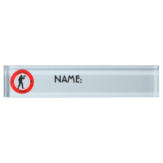 Paintball Combat Desk Name Plate