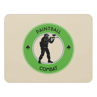 Paintball Combat Door Sign
