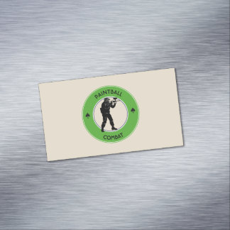 Paintball Combat Magnetic Business Card