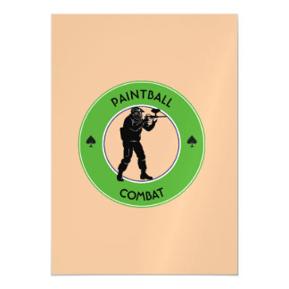 Paintball Combat Magnetic Card