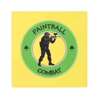 Paintball Combat Metal Print