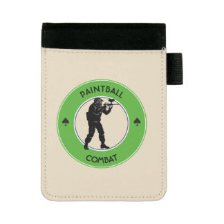 Paintball Combat Mini Padfolio