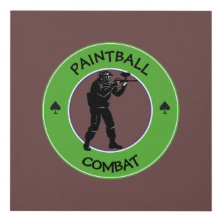 Paintball Combat Panel Wall Art
