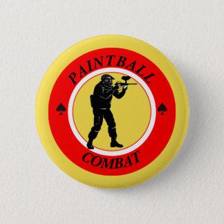 Paintball Combat Pinback Button
