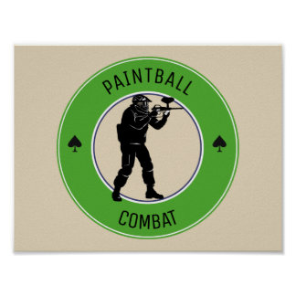 Paintball Combat Poster