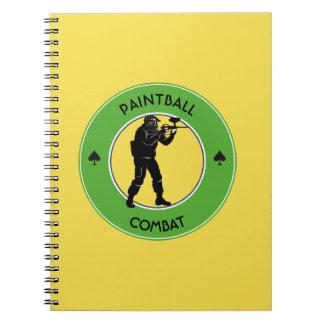 Paintball Combat Spiral Notebook