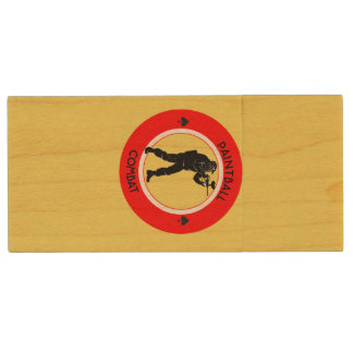 Paintball Combat Wood USB Flash Drive