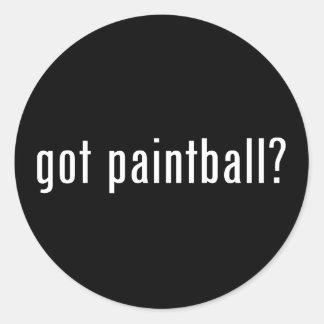 ¿Paintball conseguido? Pegatina Redonda