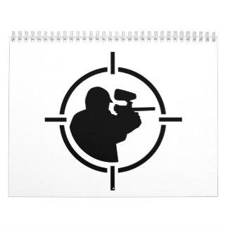 Paintball crosshairs calendar