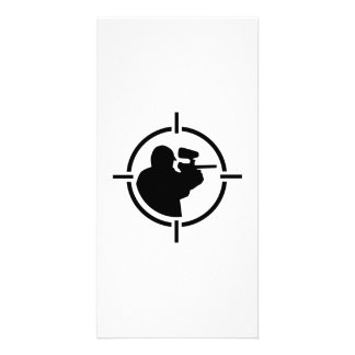 Paintball crosshairs custom photo card