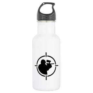Paintball crosshairs water bottle