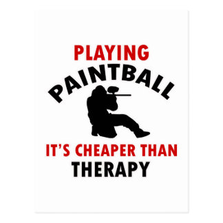 paintball design postcard