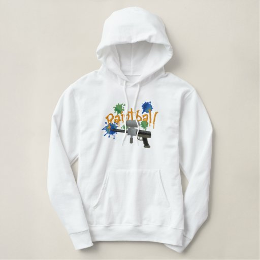 PaintBall Embroidered Hoodie